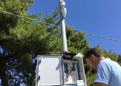 Sensore perimetrale esterno e Telecamera IP